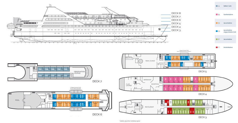 Deckplan 2017 MS Ocean Diamond