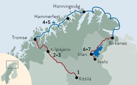 Lappland Karte.Lappland Und Nordkap Erleben Winterferien Norwegen Finnland