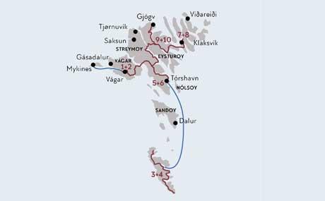 Färöer Inseln Karte.Das Beste Der Färöer Inseln 11 Tage Mietwagenrundreise