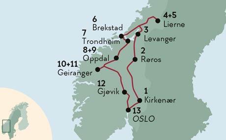 Karte Norwegen.Elche Fjorde Und Stadte Ferien In Norwegen Norden Tours