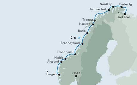 Karte Norwegen Hurtigruten.Hurtigruten Rundreise Schiffsreise Norwegen Norden Tours