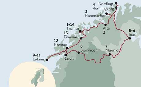 Lappland Karte.Nordkap Lappland Lofoten Direktflug Norden Tours