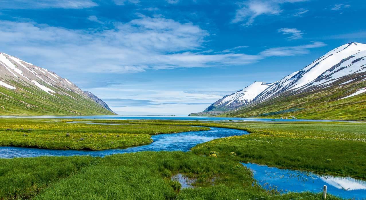 Fjord in Nordisland